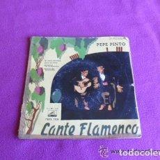 Discos de vinilo: PEPE PINTO CANTE FLAMENCO - MI TIERRA ESPAÑOLA - 1958. Lote 135144202