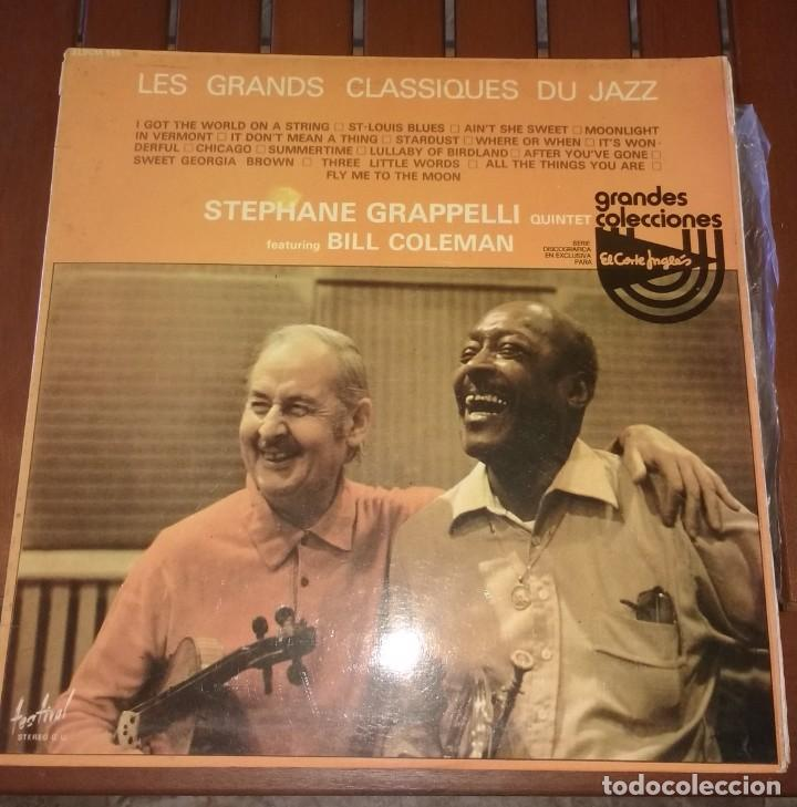 LES GRANDS CLASSIQUES DU JAZZ STEPHANE GRAPPELLI QUINTET. FEATURING BILL COLEMAN. 2 LP (Música - Discos - LP Vinilo - Jazz, Jazz-Rock, Blues y R&B)