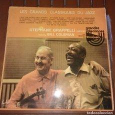 Discos de vinilo: LES GRANDS CLASSIQUES DU JAZZ STEPHANE GRAPPELLI QUINTET. FEATURING BILL COLEMAN. 2 LP. Lote 135161654