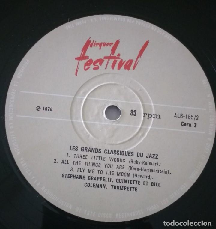 Discos de vinilo: LES GRANDS CLASSIQUES DU JAZZ STEPHANE GRAPPELLI QUINTET. FEATURING BILL COLEMAN. 2 LP - Foto 3 - 135161654
