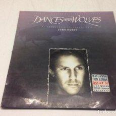 Discos de vinilo: JOHN BARRY - DANCES WITH WOLVES (ORIGINAL MOTION PICTURE SOUNDTRACK) -BAILANDO CON LOBOS-. Lote 135169502