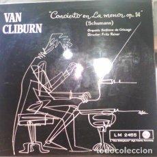 Discos de vinilo: SCHUMANN - VAN CLIBURN, FRITZ REINER, CHICAGO SYMPHONY ORCHESTRA – CONCIERTO EN LA MENOR. OP. 54. Lote 135170802