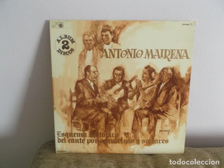 ANTONIO MAIRENA - POR SEGUIRIYAS Y SOLEARES DISCO DOBLE LP MUSICA VINILO (Música - Discos - LP Vinilo - Flamenco, Canción española y Cuplé)