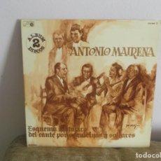 Discos de vinilo: ANTONIO MAIRENA - POR SEGUIRIYAS Y SOLEARES DISCO DOBLE LP MUSICA VINILO. Lote 135172358