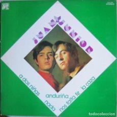 Disques de vinyle: JUAN & JUNIOR: JUAN Y JUNIOR. Lote 135187514
