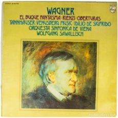Discos de vinilo: LP. WAGNER, ORQUESTA SINFONICA DE VIENA, WOLFGANG SAWALLISCH. EL BUQUE FANTASMA. (VG+/VG+). Lote 135233734