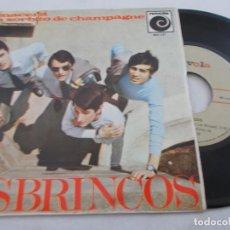 Discos de vinilo: LOS BRINCOS, RENACERÁ, UN SORBITO DE CHAMPAGNE, GIULIETTA, TU EN MÍ. Lote 135241306