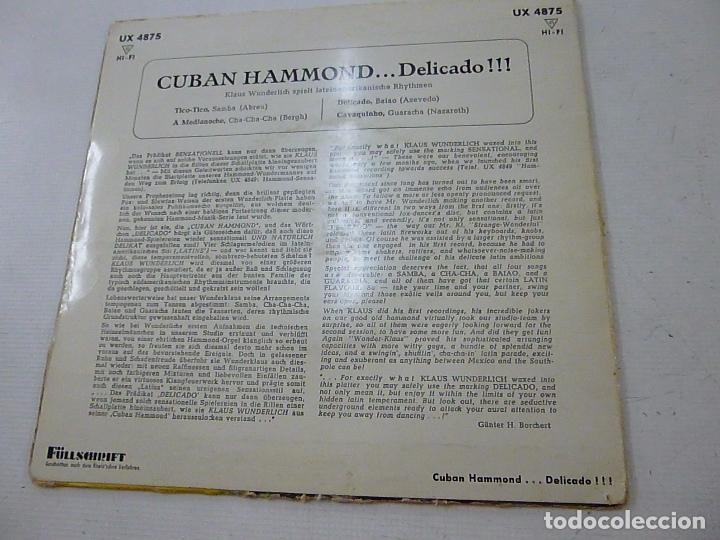 Discos de vinilo: KLAUS WUNDERLICH -TICO TICO + 3 -EP - N. - Foto 2 - 135258754