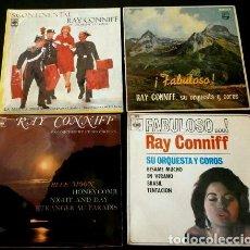 Discos de vinilo: LOTE RAY CONNIFF (4 EPS) (16 TEMAS) SON ORCHESTRE ET CHOEUR - ORQUESTA Y COROS. Lote 135277386