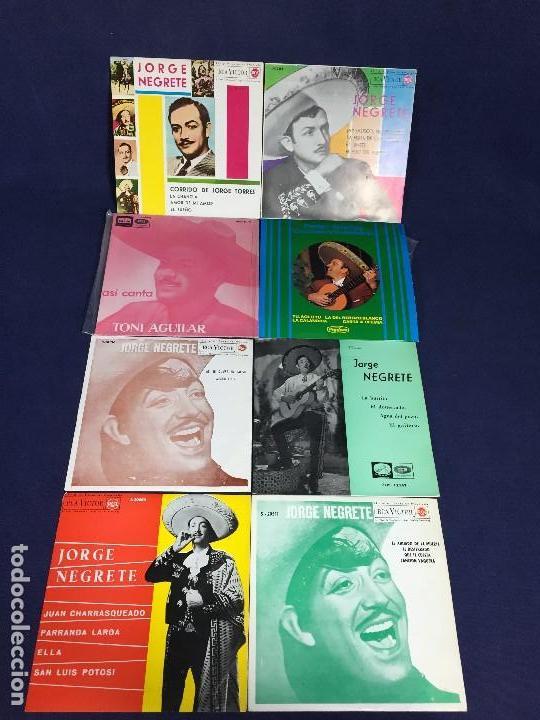 Discos de vinilo: lote 8 discos musica mexicana mejicana negrete aguilar infante ver fotos 18,5x18,5x3cms - Foto 2 - 135284318