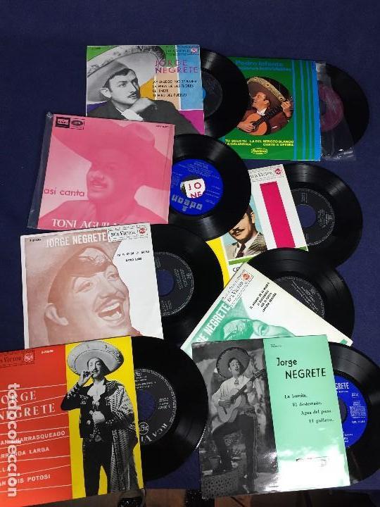 Discos de vinilo: lote 8 discos musica mexicana mejicana negrete aguilar infante ver fotos 18,5x18,5x3cms - Foto 3 - 135284318