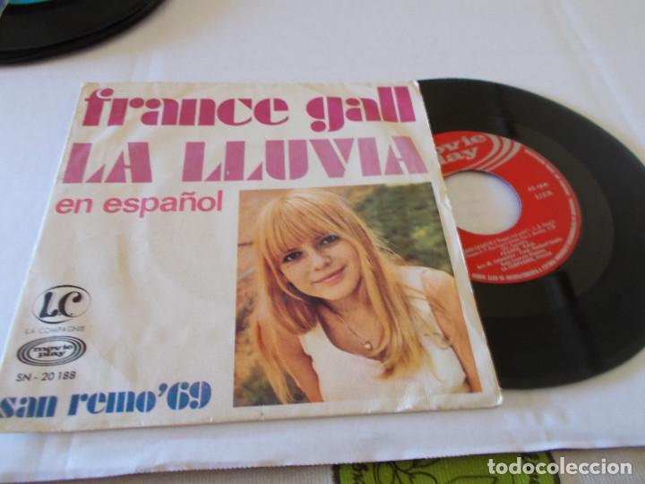 FRANCE GALL. LA LLUVIA, EN ESPAÑOL. HOMBRE CHIQUITIN, SAN REMO 69 (Música - Discos - Singles Vinilo - Otros Festivales de la Canción)