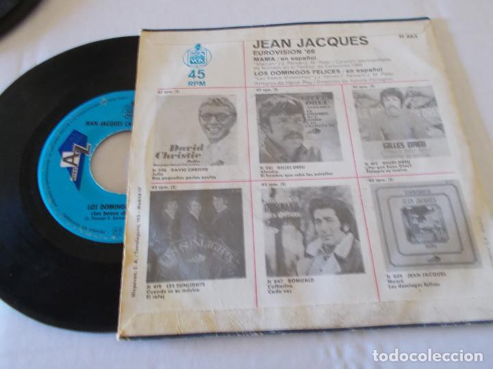 Discos de vinilo: JEAN JACQUES EUROVISION 69, CANTA EN ESPAÑOL MAMA - Foto 2 - 135292746