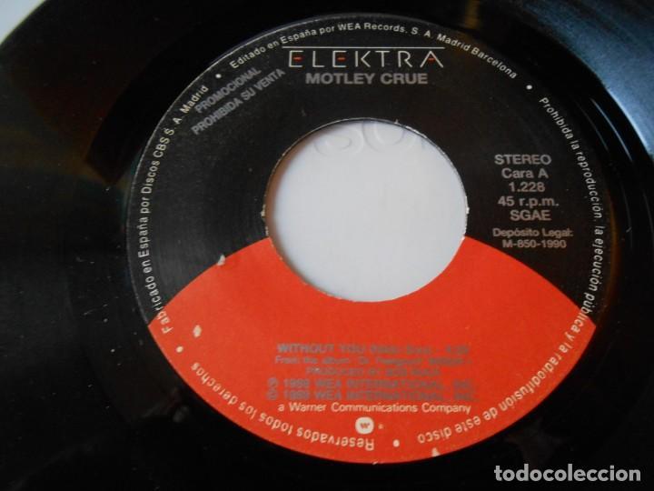 Discos de vinilo: MOTLEY CRUE, SG, WITHOUT YOU + 1, AÑO 1990 PROMO - Foto 3 - 135331098