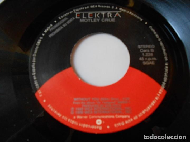 Discos de vinilo: MOTLEY CRUE, SG, WITHOUT YOU + 1, AÑO 1990 PROMO - Foto 4 - 135331098