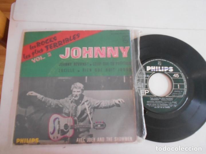 JOHNNY HALLYDAY-EP JOHNNY REVIENS +3 (Música - Discos de Vinilo - EPs - Canción Francesa e Italiana)