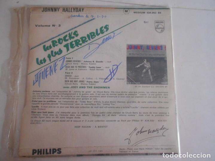 Discos de vinilo: JOHNNY HALLYDAY-EP JOHNNY REVIENS +3 - Foto 2 - 135337222