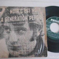 Discos de vinilo: JOHNNY HALLYDAY-EP NOIR C'EST NOIR +3. Lote 135337554