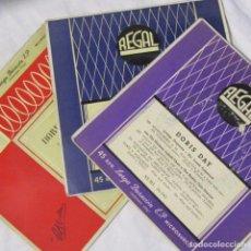 Discos de vinilo: 3 EPS DE DORIS DAY CON ORQUESTA. Lote 135337998