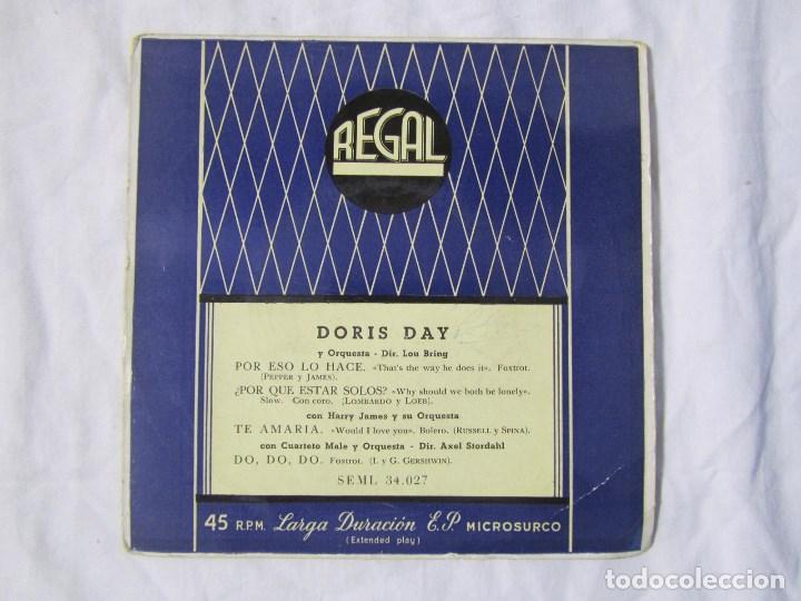 Discos de vinilo: 3 EPs de Doris Day con orquesta - Foto 5 - 135337998