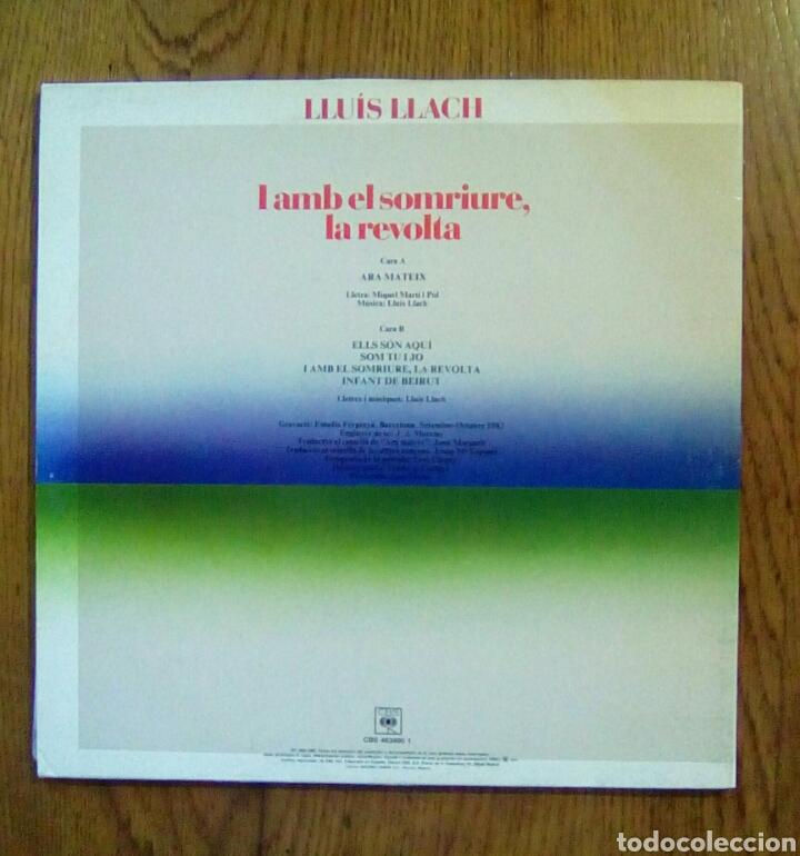 Discos de vinilo: Lluis Llach, I amb el somriure, la revolta, 1989 CBS. Spain. - Foto 3 - 135339371
