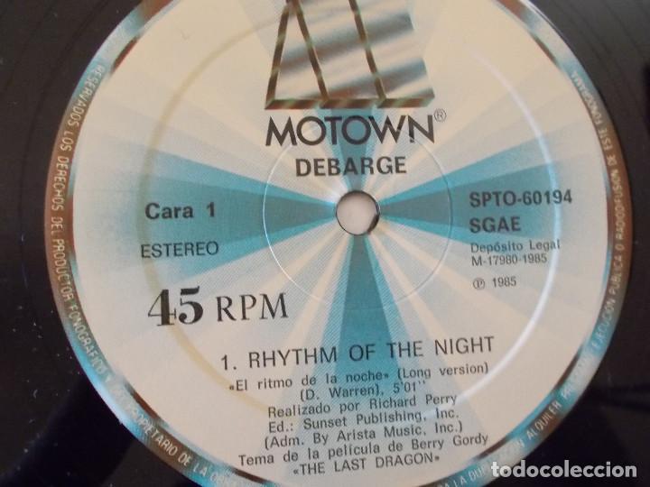 Discos de vinilo: DEBARGE. RHYTHM OF THE NIGHT, QUEEN OF MY HEART. . MAXI - Foto 4 - 135341170