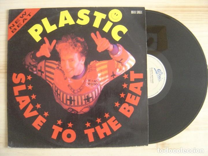 Plastic - Slave To The Beat - MAXI-SINGLE 45 - ESPAÑOL 1989 - EPIC
