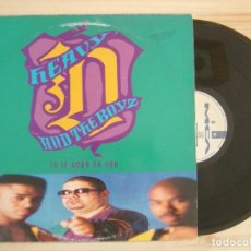 Discos de vinilo: HEAVY D. & THE BOYZ - IS IT GOOD TO YOU - MAXI-SINGLE 45 - ESPAÑOL 1991 - MCA RECORDS. Lote 135352794