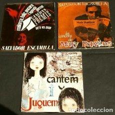 Discos de vinilo: SALVADOR ESCAMILLA (3 EPS. 1962-63-65) SE'N VA ANAR, MALLORCA FELIÇ, GERMÀ, MARY POPPINS - EN CATALÀ. Lote 135354966