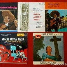 Discos de vinilo: MEXICO (5 EPS. AÑOS 60) MIGUEL ACEVES MEJIA, PEDRO INFANTE Y MARCO ANTONIO MUÑIZ - MARIACHI - MEJICO. Lote 135355702