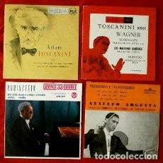 Discos de vinilo: TOSCANINI - RUBINSTEIN Y CHARLES MUNCH (LOTE 4 EPS) (MUY NUEVOS) WAGNER - BERLIOZ -GRANADOS -ALBENIZ. Lote 135356122