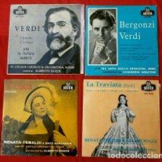 Discos de vinilo: OPERA - SANTA CECILIA ORCHESTRA, ROME (4 EP NUEVOS AÑOS 50) RENATA TEBALDI -BERGONZI-VERDI- PUCCINI. Lote 135356502