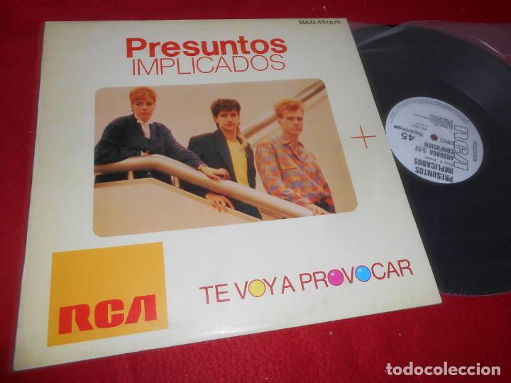 PRESUNTOS IMPLICADOS TE VOY A PROVOCAR/ABSURDA CONFUSION MX 1985 RCA PROMO EDICION ESPAÑOLA SPAIN (Música - Discos de Vinilo - Maxi Singles - Grupos Españoles de los 70 y 80)