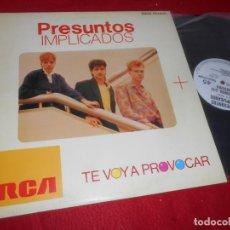 Discos de vinilo: PRESUNTOS IMPLICADOS TE VOY A PROVOCAR/ABSURDA CONFUSION MX 1985 RCA PROMO EDICION ESPAÑOLA SPAIN. Lote 135356982