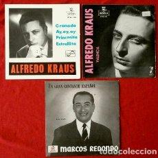 Discos de vinilo: GRANDES VOCES (LOTE 3 EPS) (MUY NUEVOS) ALFREDO KRAUS - MARCOS REDONDO - TENORES - OPERA - BARITONO. Lote 135357022