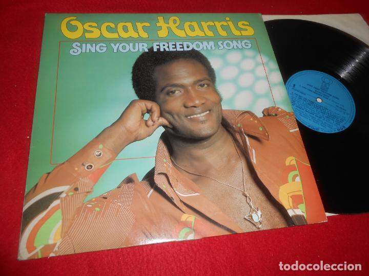 OSCAR HARRIS SING YOUR FREEDOM SONG LP 1975 PINK EDICION NETHERLANDS (Música - Discos - LP Vinilo - Funk, Soul y Black Music)