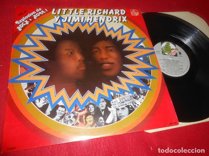 LITTLE RICHARD Y JIMMY HENDRIX EXPLOSION ROCK&ROLL VOL.8 LP 1981 ALLIGATOR EDICION ESPAÑOLA SPAIN (Música - Discos - LP Vinilo - Pop - Rock - Internacional de los 70)