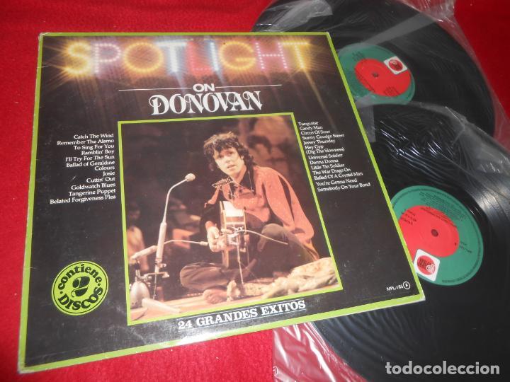 DONOVAN SPOTLIGHT ON DONOVAN 2LP 1982 PRT EDICION ESPAÑOLA SPAIN (Música - Discos - LP Vinilo - Pop - Rock Internacional de los 50 y 60)
