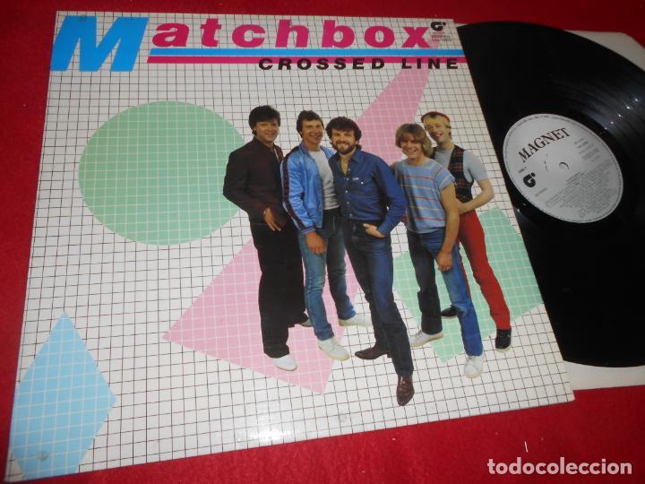 MATCHBOX CROSSED LINE LP 1982 MAGNET EDICION ESPAÑOLA SPAIN (Música - Discos - LP Vinilo - Pop - Rock - Internacional de los 70)