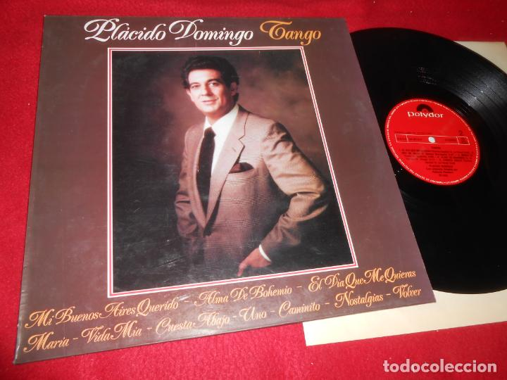 PLACIDO DOMINGO TANGO LP 1981 POLYDOR EDICION ESPAÑOLA SPAIN (Música - Discos - LP Vinilo - Solistas Españoles de los 70 a la actualidad)