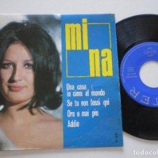 Discos de vinilo: MINA - UNA CASA IN CIMA AL MONDO +3 - EP BELTER 1966. Lote 135398510
