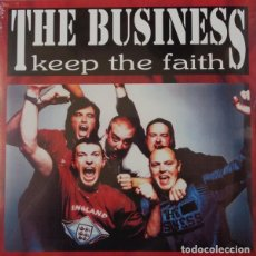 Discos de vinilo: THE BUSINESS - KEEP THE FAITH - 2017 BEAT GENERATION RECORDS REISSUE. Lote 135398730