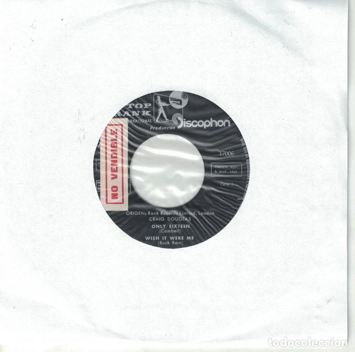 CRAIG DOUGLAS-ONLY SIXTEEN/WISH IT WERE ME/MY FIRST LOVE AFFAIR/THE RIDDLE OF LOVE (VINILO AZUL) (Música - Discos de Vinilo - EPs - Rock & Roll)