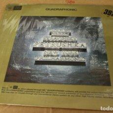 Discos de vinilo: LP BOULEZ CONDUCTS STRAVINSKY PETRUSHKA. NEW YORK PHILHARMONIC. QUADRAPHONIC CBS. 1972. Lote 135413389