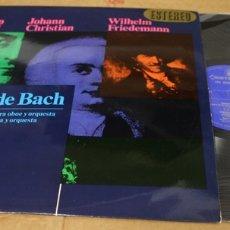 Dischi in vinile: LP LOS HIJOS DE BACH. CARL PHILIP EMMANUEL. JOHANN CHRISTIAN. WILHELM FRIEDEMANN. HISPAVOX, 1966. Lote 135418983