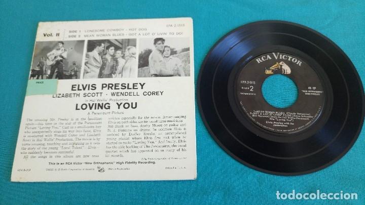 Discos de vinilo: ELVIS PRESLEY - - LOVING YOU - - EP - EDITADO EN USA, 1957. RCA VICTOR - Foto 4 - 135421254