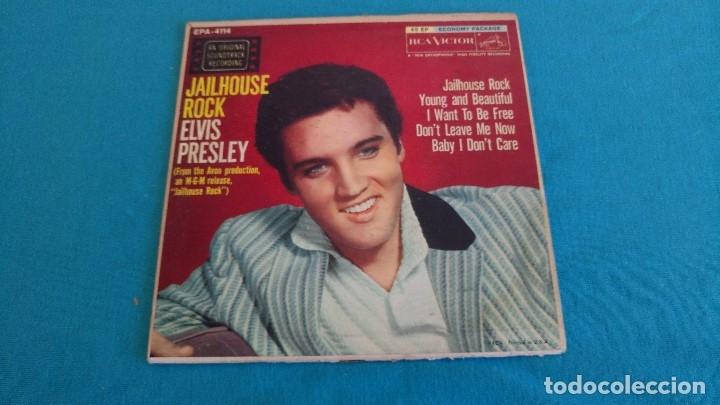 Discos de vinilo: ELVIS PRESLEY - - JAILHOUSE ROCK - - EP - EDITADO EN USA, 1957. RCA VICTOR - Foto 2 - 135421258
