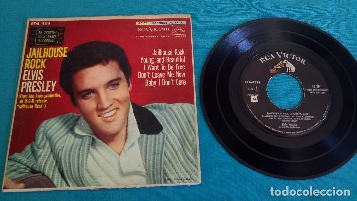 Discos de vinilo: ELVIS PRESLEY - - JAILHOUSE ROCK - - EP - EDITADO EN USA, 1957. RCA VICTOR - Foto 3 - 135421258