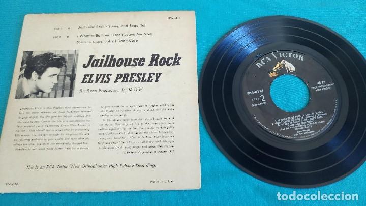 Discos de vinilo: ELVIS PRESLEY - - JAILHOUSE ROCK - - EP - EDITADO EN USA, 1957. RCA VICTOR - Foto 4 - 135421258