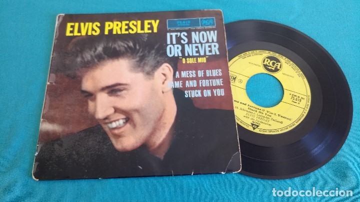 Discos de vinilo: ELVIS PRESLEY - - ITS NOW OR NEVER (O SOLE MIO)+3 - - EP - EDITADO EN FRANCIA 1960. RCA - Foto 2 - 135421274